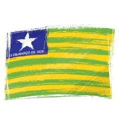 Grunge Piaui flag vector image vector image