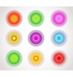 halftone color vector image vector image
