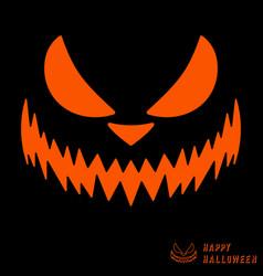 halloween scary pumpkin template vector image vector image