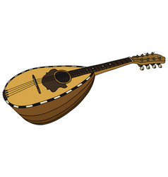 historical mandolin vector image