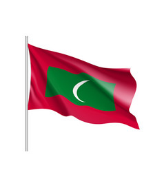 maldives flag flat style vector image vector image