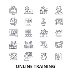 Online training webinar computer e-learning vector