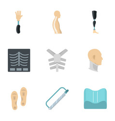 Orthopedic disease icon set flat style vector