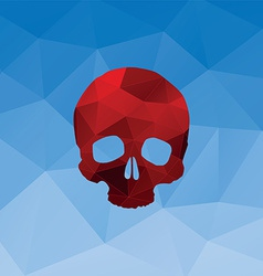 red triangle skull vector image