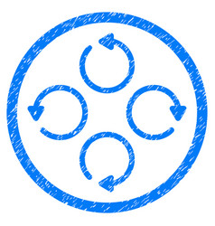 rotation rounded grainy icon vector image