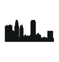 Silhouette urban building skyscraper architecture vector