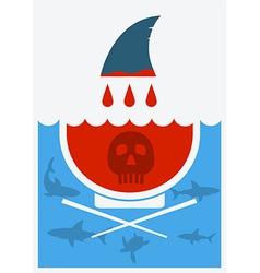 Stop shark finning soup vector