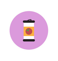 Stylish icon in color circle iron barrel vector