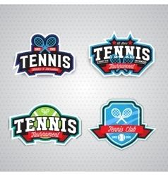 Tennis logo badge design template vector image