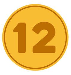 twelve gold coin vector image vector image
