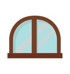 Window open interior frame glass construction vector image vector image