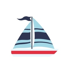 Sailboat transportation delivery travel icon vector