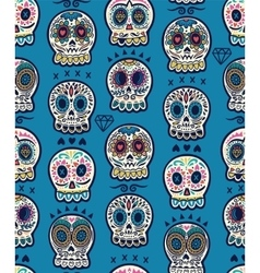 Mexican day of the dead Colorful skull cute vector image
