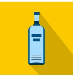 Bottle of vodka icon flat style vector