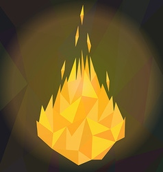 Fire flames low poly vector
