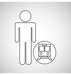 Train station locate destination icon silhouette vector