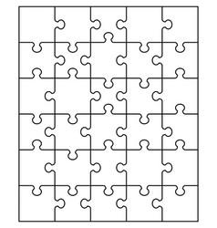 White puzzle separate parts vector