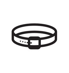 Thin line dog collar icon vector