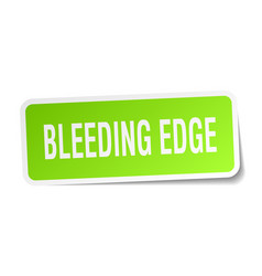 Bleeding edge square sticker on white vector