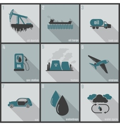 Production use and oil pollution vector