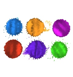 colored spots vector image