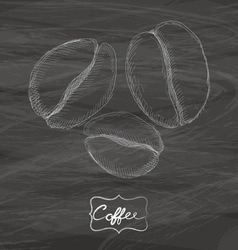 Coffee drawing with chalk on blackboard vector image