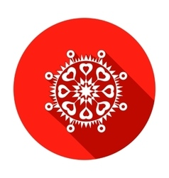 Snowflake heart view icon christmas valentine vector