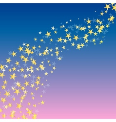Golden star flowing background vector