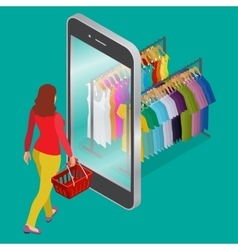Online shopping and consumerism concept mobile vector
