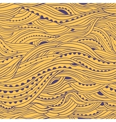 Wave hair pattern yellow vector