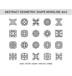 Abstract geometric shape monoline 42 vector