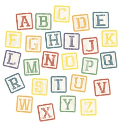 Baby blocks alphabet vector