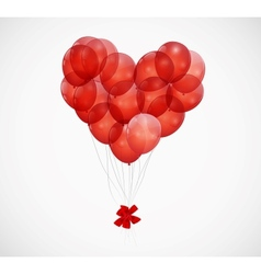 Balloon Heart Background vector image