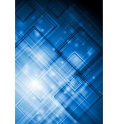 Blue abstract tech design vector image vector image