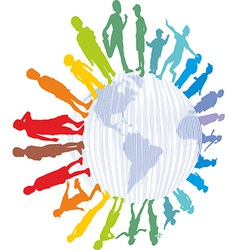 Children from around the world vector image