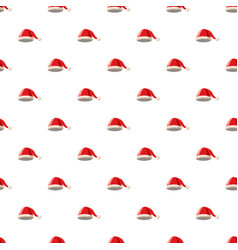 Christmas hat with pompom pattern vector