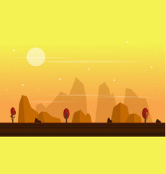 Collection stock game background cliff scenery vector