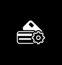 Credit card processing icon flat design vector