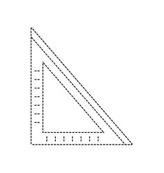 Dotted shape square ruler school tool to study vector