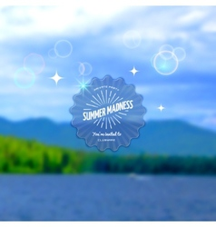 Festival summer madness realistic badge eps10 vector