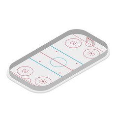 field of play ice hockey isometric vector image