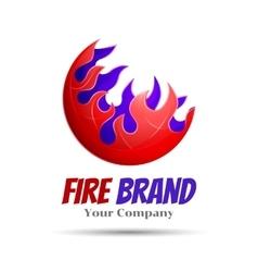 Fireball - logo template concept vector image vector image