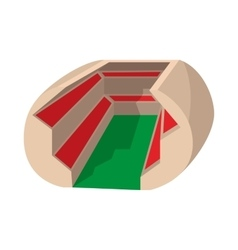 Football soccer stadium cartoon icon vector image vector image
