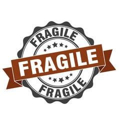 Fragile stamp sign seal vector