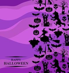 hal vertical purple vector image vector image