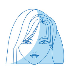 holy virgin mary cartoon face icon vector image vector image