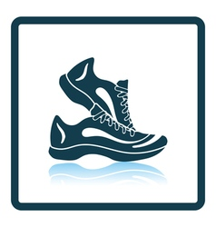 Icon of Fitness sneakers vector image vector image