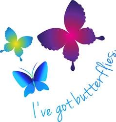 Ive Got Butterflies vector image vector image