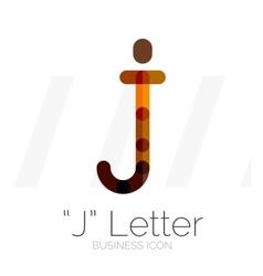 J letter logo minimal line design vector