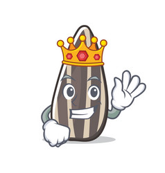 King sunflower seed mascot cartoon vector
